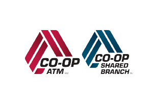 CO-OP ATM AND CO-OP SHARED BRANCH logos