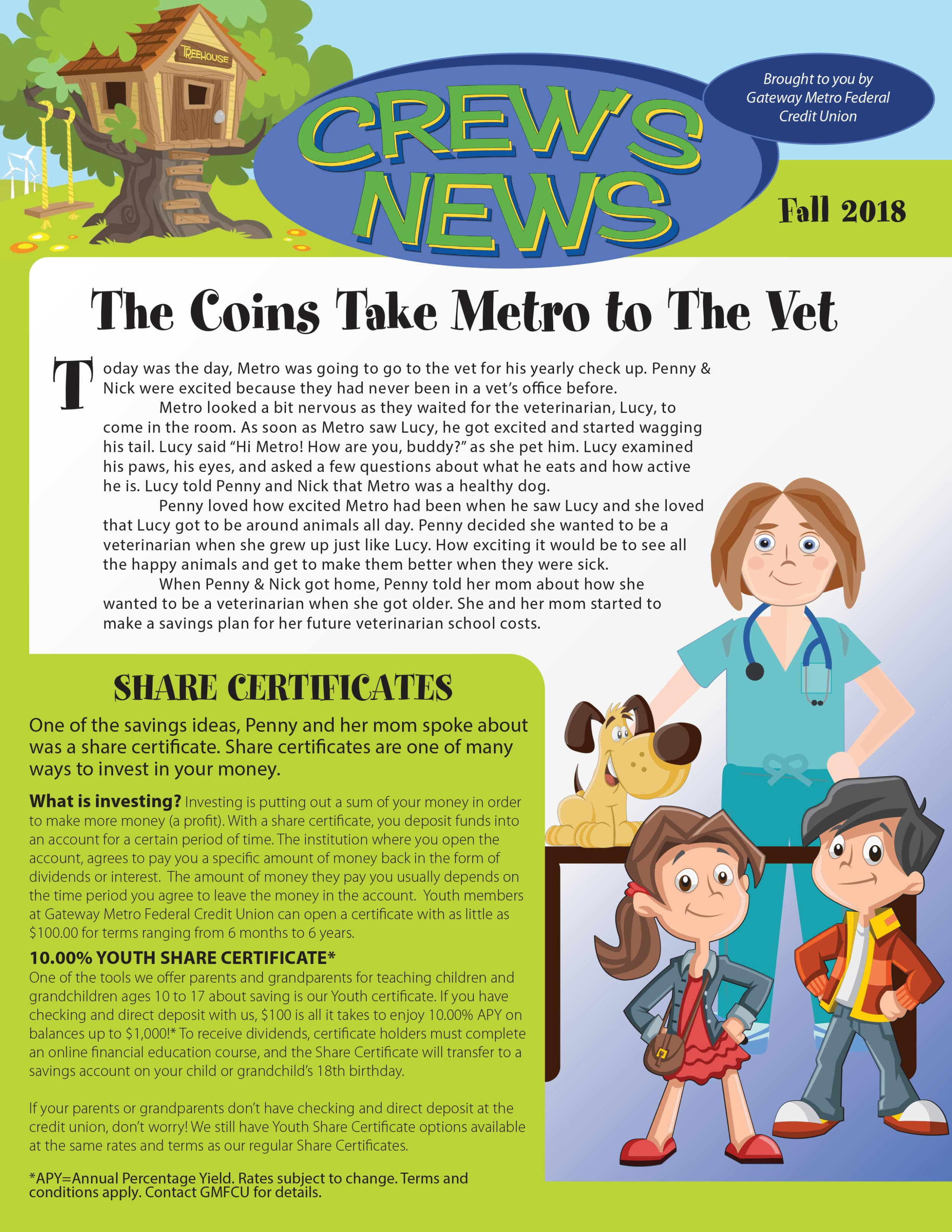 This image links to the fall 2018 'Crews News' newsletter PDF