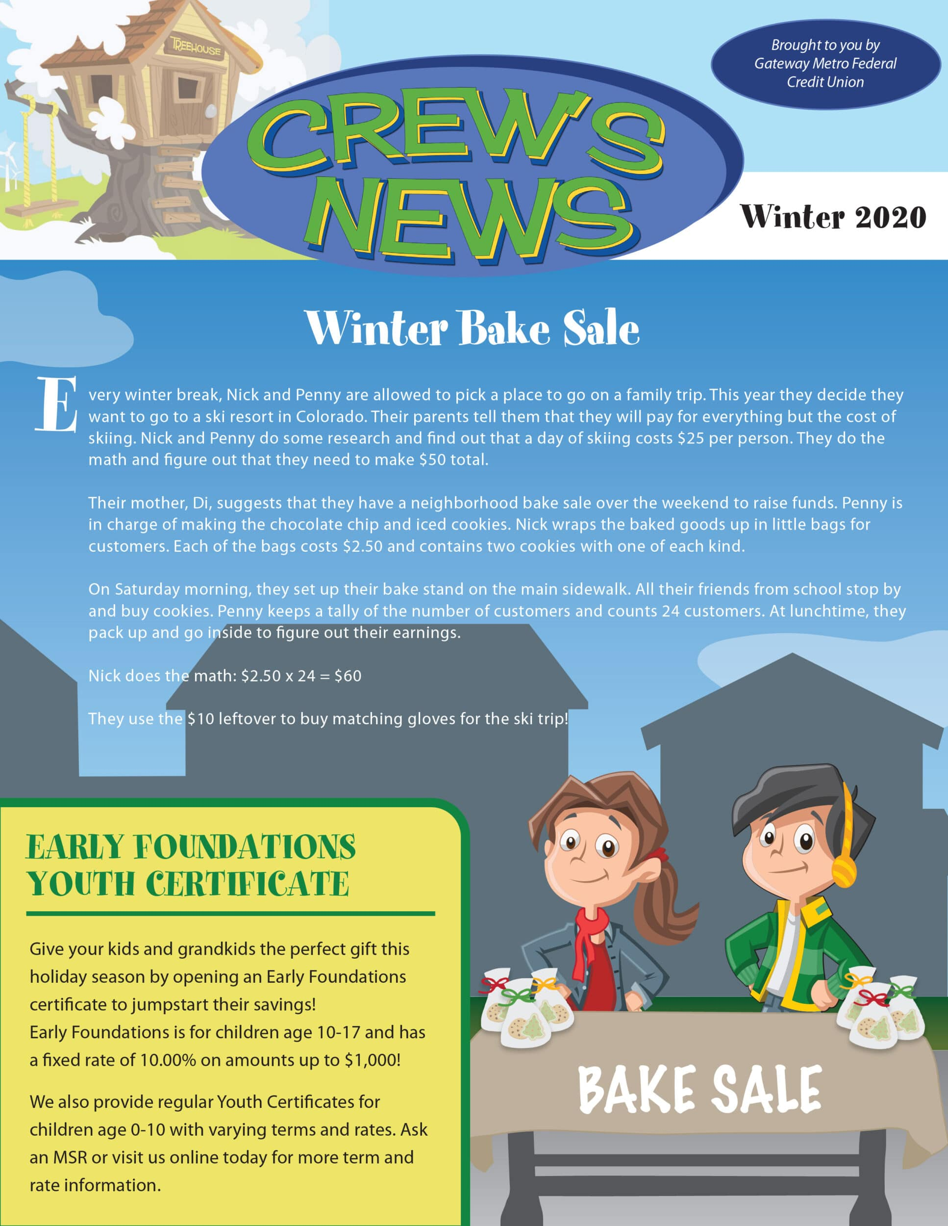 This image links to the Winter 2020 'Crews News' newsletter PDF