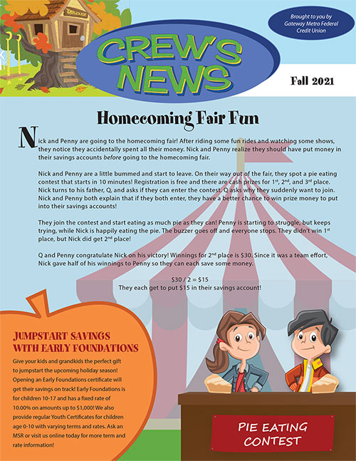 This image links to the Fall 2021 'Crews News' newsletter PDF
